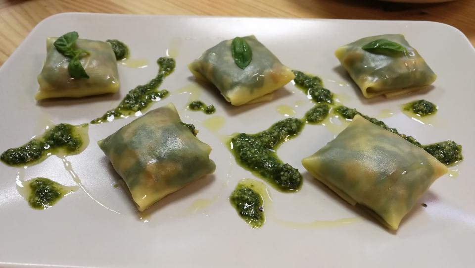 Curso de cocina de verduras y hortalizas - 7 - pasta fresca con relleno de verduras