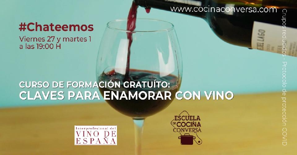 Curso de formación gratuíto: Claves para enamorar con vino
