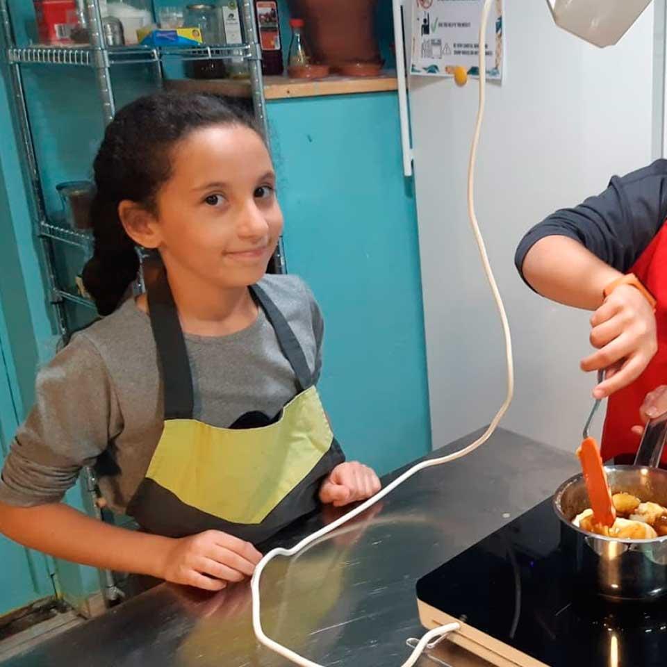 Taller de cocina infantil, helados y pasta