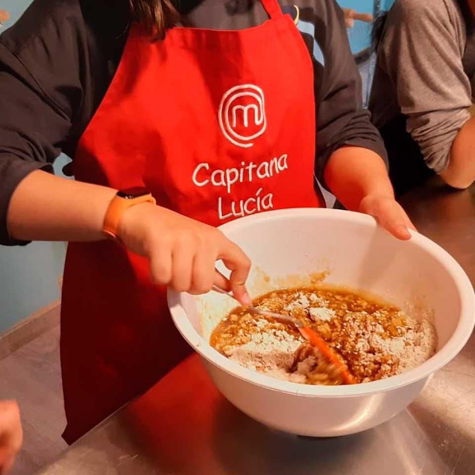 Taller de cocina infantil: ensalada para picnic y bizcocho